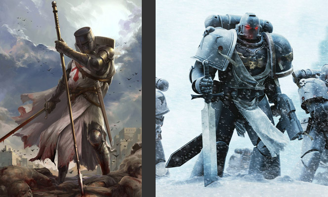 Space Marines and Zealous warrior priests comparison